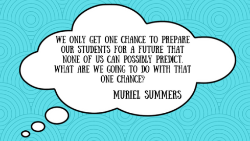We only get one chance to prepare out students for a future that none of us can possibly predict. What are we going to do with that one chance-1 (1)